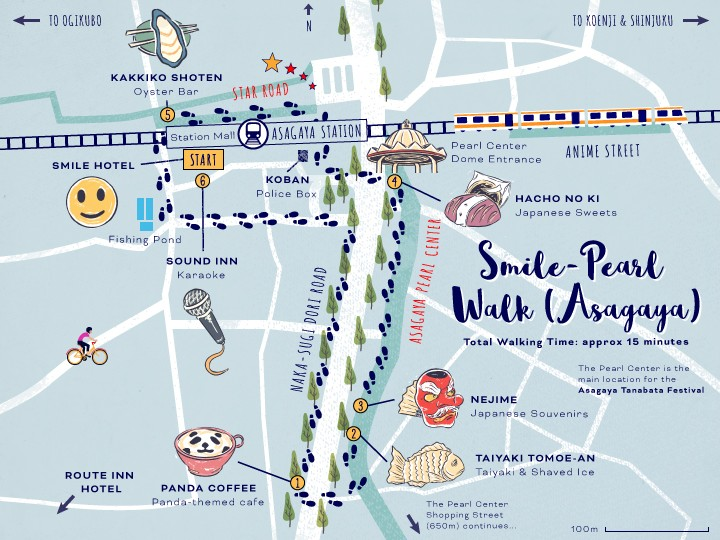 ExperienceSuginami_Asagaya-Smile-Pearl-Walk_Map-5