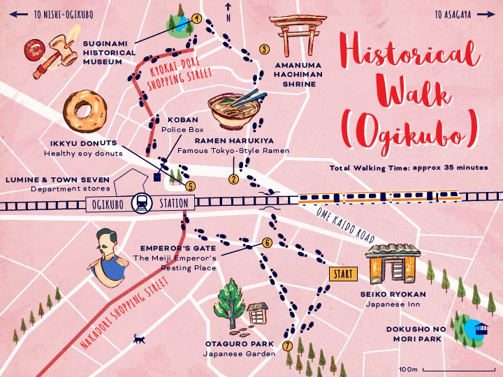 ExperienceSuginami_Ogikubo-Walk-Map_5-01