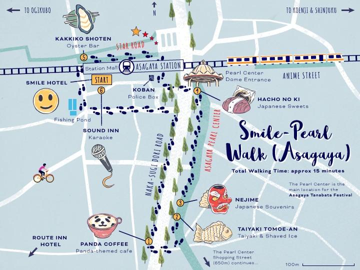 ExperienceSuginami_Asagaya-Smile-Pearl-Walk_Map-5