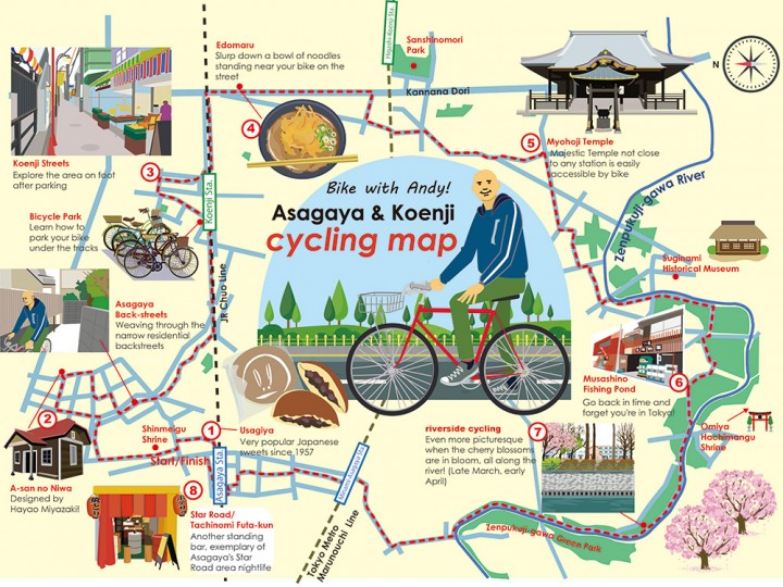 Andy Cycling Map